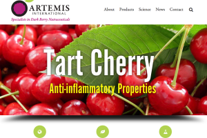 New website for Artemis International highlights the health benefits of dark fruits like tart cherries and elderberries.