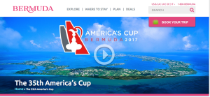 A major effort was made to promote the upcoming America's Cup Races, hosted in Bermuda. I created a number of landing pages and features about the race.