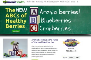 I wrote the copy for this new site on the health benefits of aronia berries, a blueberry-like fruit that is a very potent antioxidant ingredient.