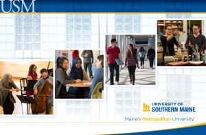 In addition to website content, email programs, and newsletters, I also write the USM undergraduate Viewbook